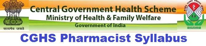 CGHS Pharmacist Syllabus