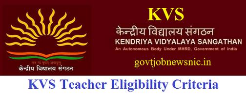 KVS Teacher Eligibility Criteria