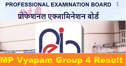 MP Vyapam Group 4 Result