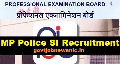 MP Police SI Recruitment 2019