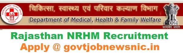 Rajasthan NRHM Recruitment