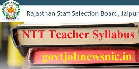 Rajasthan NTT Teacher Syllabus