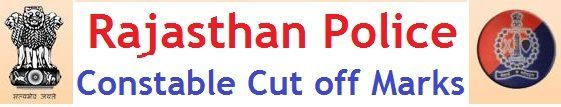 Rajasthan Police Constable Cut off Marks