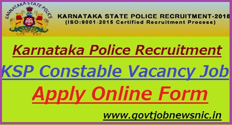 Karnataka Police Recruitment 2018-19