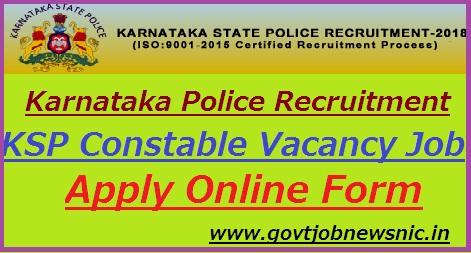 Karnataka Police Recruitment 2018-19