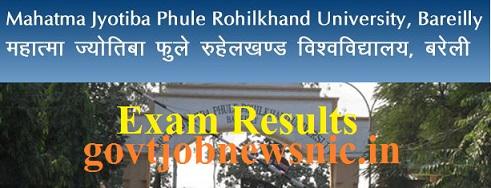 MJPRU Improvement Exam Result