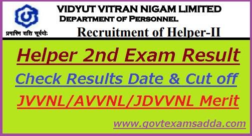 JVVNL Helper 2nd Result 2018