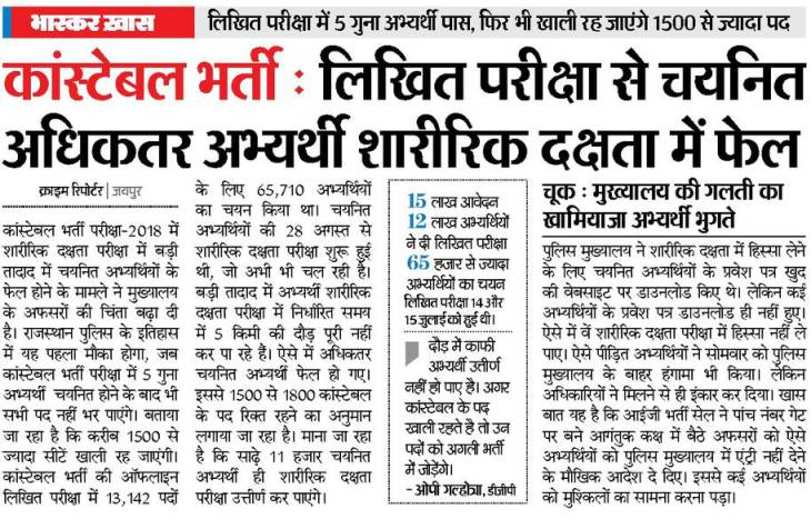 rajasthan police final cut off marks