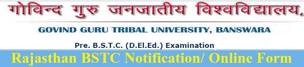 Rajasthan BSTC Notification