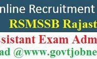 RSMSSB PTI Admit Card 2021
