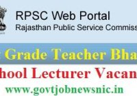 RPSC 1st Grade Teacher Recruitment 2020