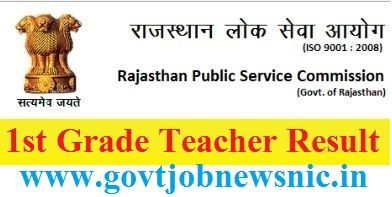 RPSC 1st Grade Teacher Result 2019