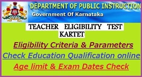 KARTET Eligibility Criteria 2018-19