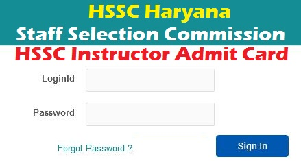HSSC Instructor Admit Card