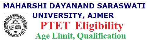 Rajasthan PTET Eligibility Criteria