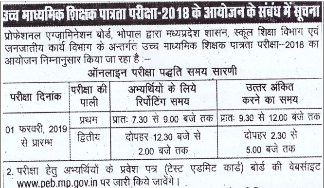 mppeb high school admit card 2019