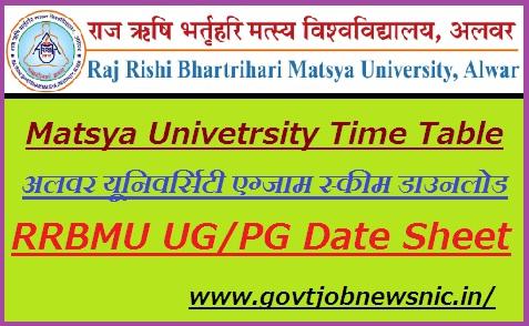 Matsya University Time Table 2020