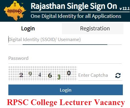 RPSC College Lecturer Vacancy