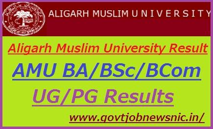 Aligarh Muslim University Result 2019