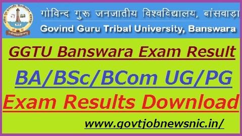 GGTU Banswara Result 2019
