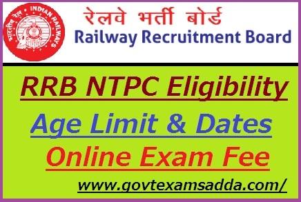 RRB NTPC Eligibility Criteria 2019-20