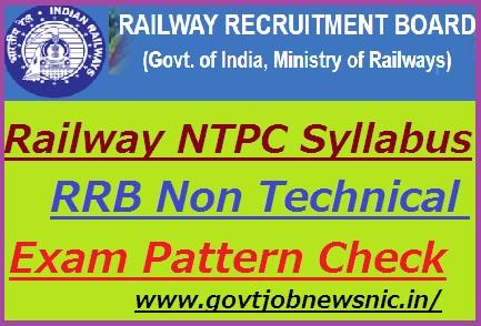 RRB NTPC Syllabus 2019-20