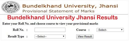 BU Jhansi Result 2019