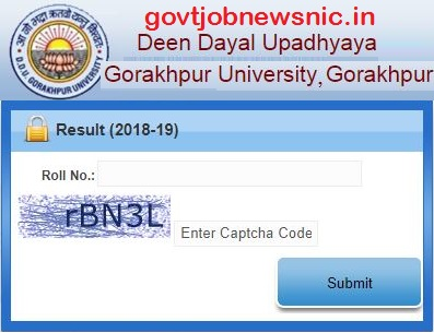DDU Gorakhpur Result 2020