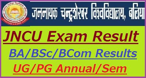 JNCU Exam Result 2019