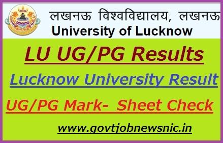 Lucknow University Result 2019-20