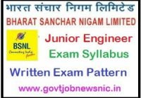 BSNL Junior Engineer Syllabus 2020
