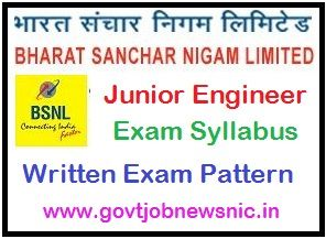 BSNL Junior Engineer Syllabus 2021