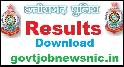 CG Police Constable Result 2020