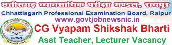 CG Vyapam Shikshak Bharti 2020
