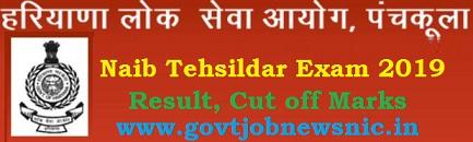 HPSC Naib Tehsildar Results 2019