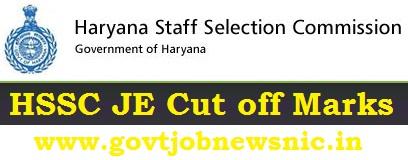HSSC JE Cut off Marks 2019