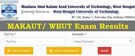 WBUT Exam Result 2019
