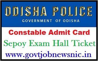 Odisha Police Constable Admit Card 2020