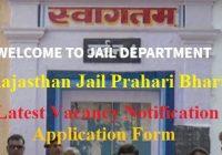 Rajasthan Jail Prahari Recruitment 2019