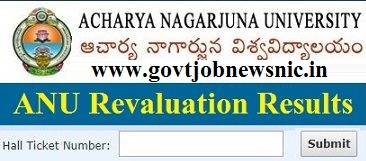 ANU Revaluation Results 2019