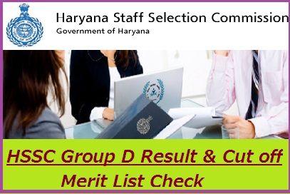 HSSC Group D Result 2020
