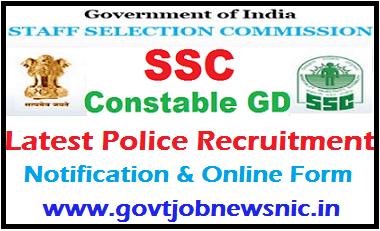 SSC Constable GD Recruitment 2020