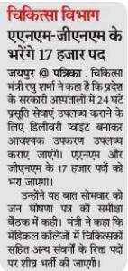 Rajasthan NRHM Recruitment 2019