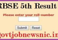 RBSE 5th Result 2021