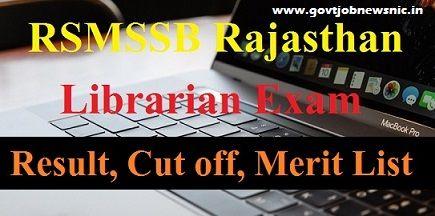 RSMSSB Librarian Result 2019