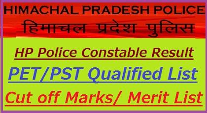 HP Police Constable Result 2019