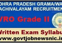AP Grama Sachivalayam VRO Syllabus 2021