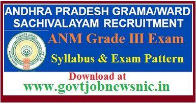 AP Grama Sachivalayam ANM Syllabus 2021