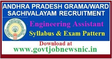 AP Grama Sachivalayam Engineering Assistant Syllabus 2019