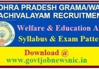 AP Welfare and Education Assistant Syllabus 2019